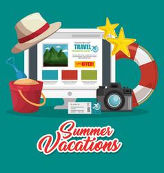 Planning summer vacation design vector