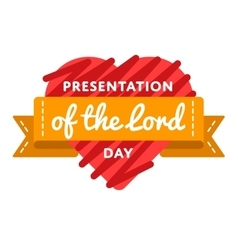 Presentation of the lord day emblem vector