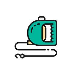 roulette leash for pet flat color icon vector image