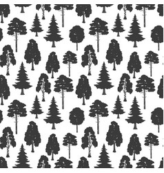 scandinavian style forest seamless pattern vector image
