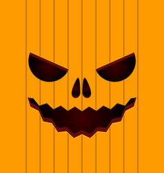 scary face of halloween pumpkin vector image