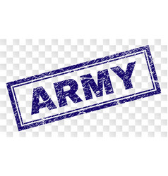 Scratched army rectangle stamp vector