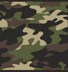 Seamless camouflage pattern military background vector