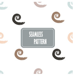 seamless pattern with spiral elements seamless vector image