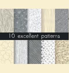 Set 10 perfect patterns hipster stile vintage vector