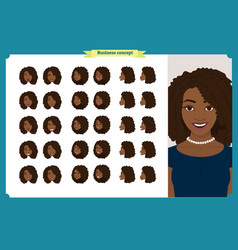 Set of womans emotions design facial expression vector