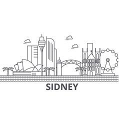 Sidney architecture line skyline vector