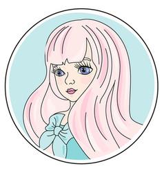 Social media portrait color vector