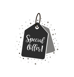 Special offer tag icon coupon with special offer vector
