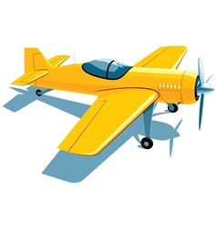 Sport airplane vector