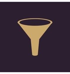 The funnel icon Filtered and filter laboratory vector image