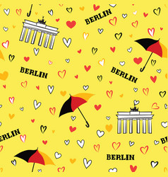 Travel berlin city seamless pattern german vector
