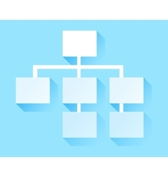 Tree Structure Icon Hierarchy vector image