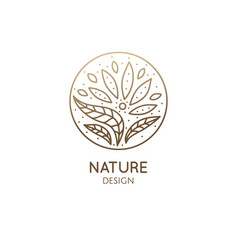 Tropical plant logo vector