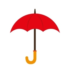umbrella red wooden open isolated vector image