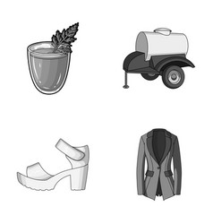 Vegetarianism shoes and other monochrome icon in vector
