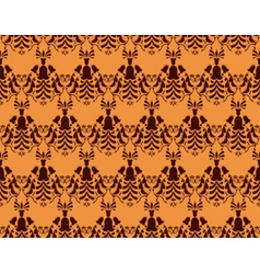 Vintage Abstract geometric floral classic pattern vector image