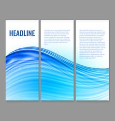 wavy banner design vector image