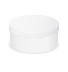 White box round closed package vector