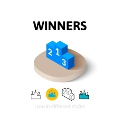Winners icon in different style vector image
