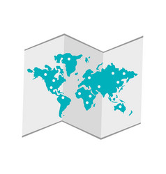 World map icon vector