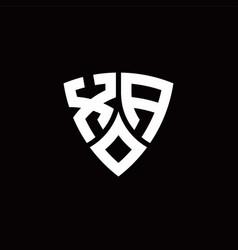 Xa monogram logo with modern shield style design vector