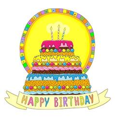Birhday cake happy vector image vector image