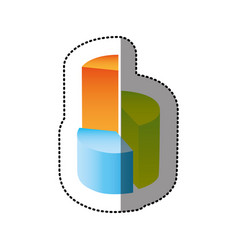Color circular statistic with levels icon vector
