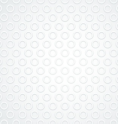 White Abstract Circle Dot Seamless Pattern vector image vector image