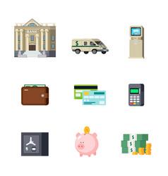 banking orthogonal elements set vector image