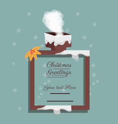 christmas greetings design vector image