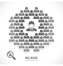 Concept of big boss team building vector image vector image