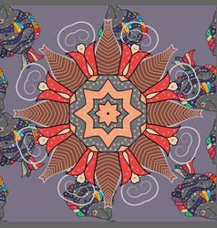 east islam indian motif revival swirling ethnic vector image
