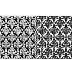 Floral damask seamless patterns vector image vector image