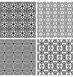 Geometric Ornaments Pattern Set vector image vector image