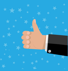 hand thumbs up gesture vector image vector image