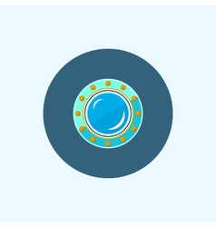 Icon with colored porthole vector image