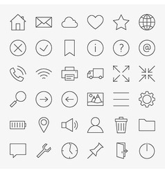 Line Web and User Interface Design Icons Big Set vector image