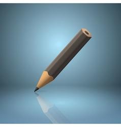 Black sharpened pencil icon vector image vector image