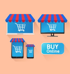 concept technology e-business mobile online vector image