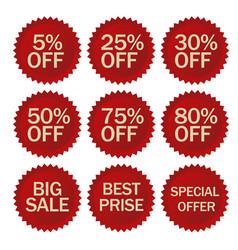 Discount stickers set vector