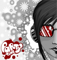 party graphic with woman vector image