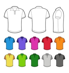 Polo in various colors vector image vector image