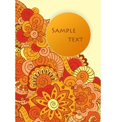 Abstract ethnic floral doodle pattern in vector image