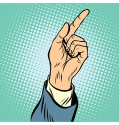 gesture Index finger direction vector image vector image