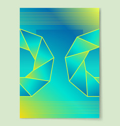 green background sapphire precious gemstone vector image vector image