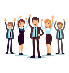 happy office people successful business man and vector image vector image