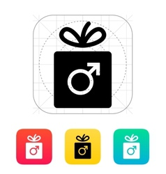 Male gift icon vector image vector image