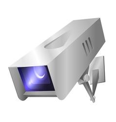 Outdoor security camera vector image