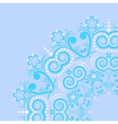 round frame from floral pattern vector image